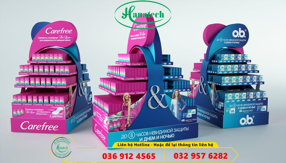Giá kệ quảng cáo giới thiệu sản phẩm trưng bày POSM