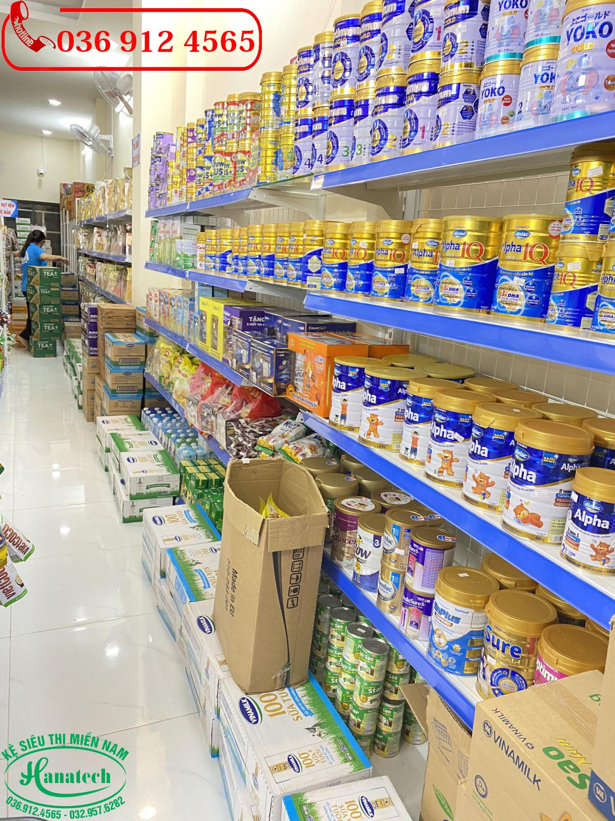 Giá kệ siêu thị cho cửa hàng trưng bày sữa