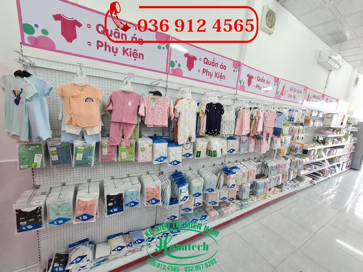 Giá kệ siêu thị cho cửa hàng Shop mẹ và bé