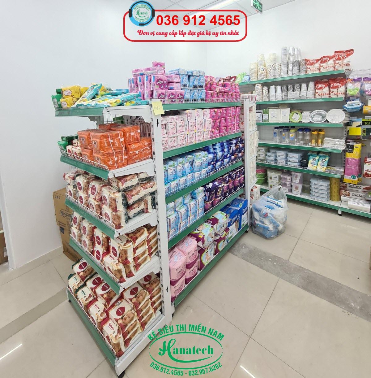 Giá kệ siêu thị đôi trưng bày sản phẩm
