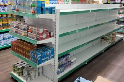 Kệ siêu thị đôi tôn đục lỗ