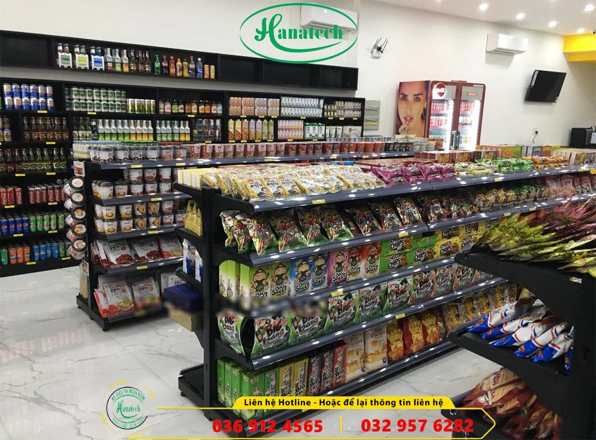Giá kệ siêu thị đôi tôn liền bày hàng