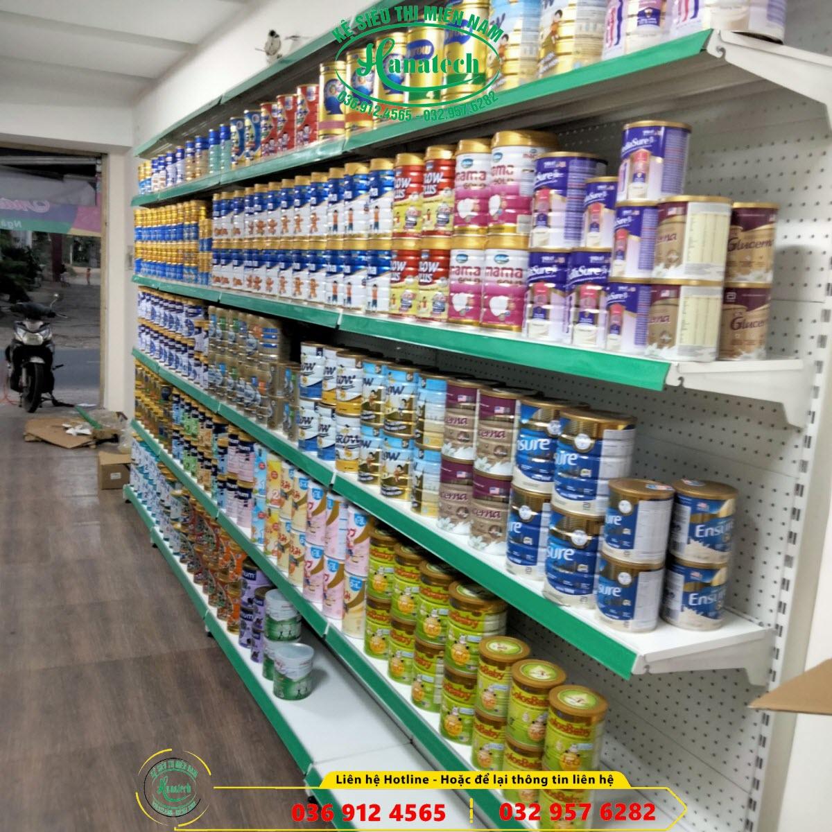 Kệ siêu thị đơn lưng đục lỗ