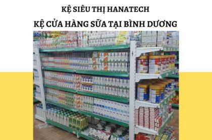 Kệ trưng bày cửa hàng sữa tại Bình Dương