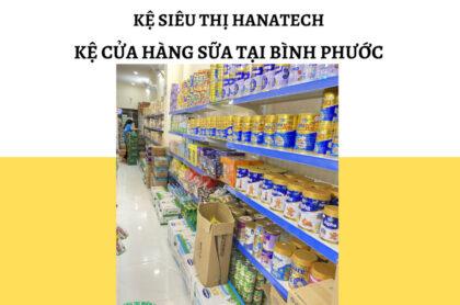 Kệ trưng bày cho cửa hàng sữa tại Bình Phước