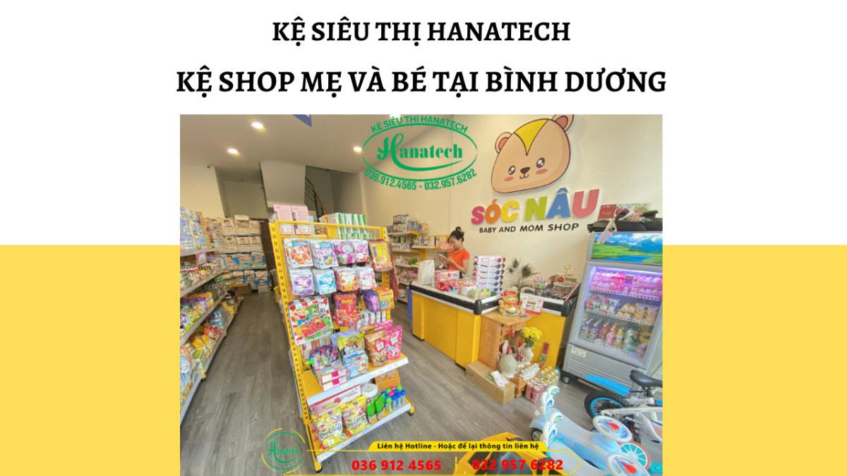 Giá kệ siêu thị trưng bày shop mẹ và bé đồ sơ sinh tại Bình Dương