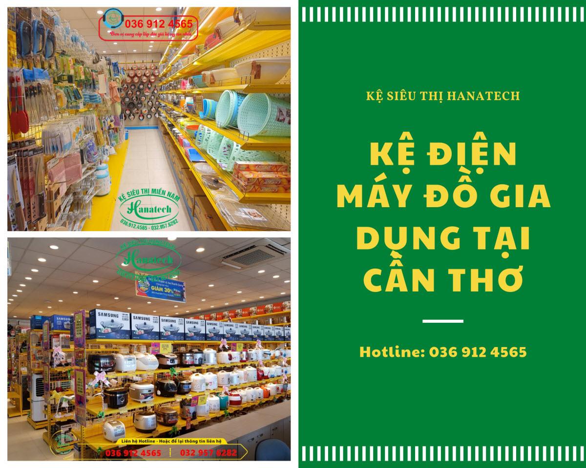 Giá kệ siêu thị trưng bày điện máy đồ gia dụng tại Cần Thơ
