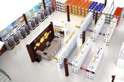 Mẫu kệ trưng bày sơn tốt và chất lượng nhất thị trường