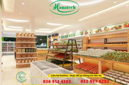 Thiết kế cửa hàng hoa quả trái cây rau sạch